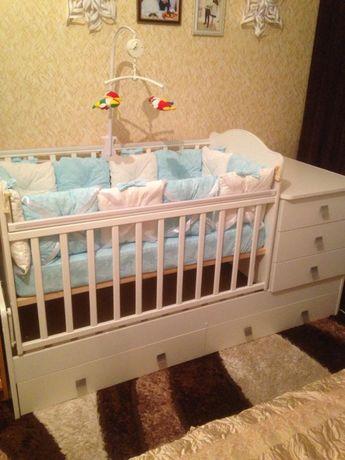 Кровать трансформер детская с ортопедическим матрасом