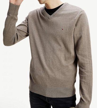 Pulover/Bluza Tommy Hilfiger din bumbac si casmir