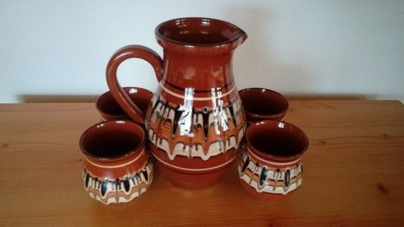 Кана и чаши - глинени