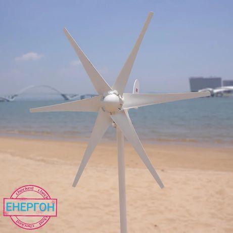 НОВ ветрогенератор 12v 400w 6 витла вятърна турбина перка зелена енерг