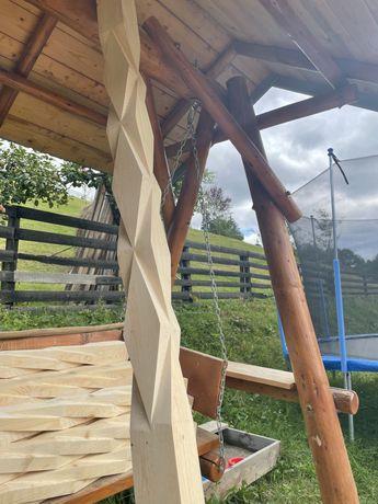Stalpi de lemn pentru terasa si balcon