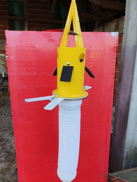 Dispozitiv golire saci big bag, vid bag cu adaptor pentru furtun