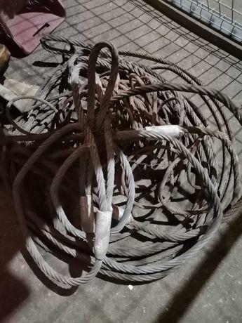 Продавам стоманени въжета за кран, втора употреба