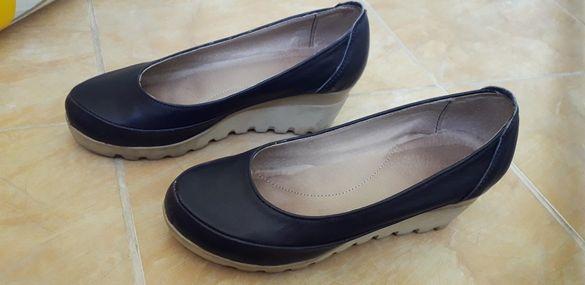 Кожени дамски обувки 37 номер на платформа