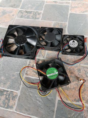 Vand patru ventilatoare PC 12 V (20 de lei toate 4)