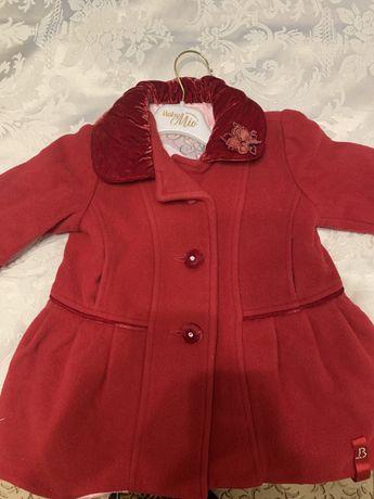Детское модное пальто