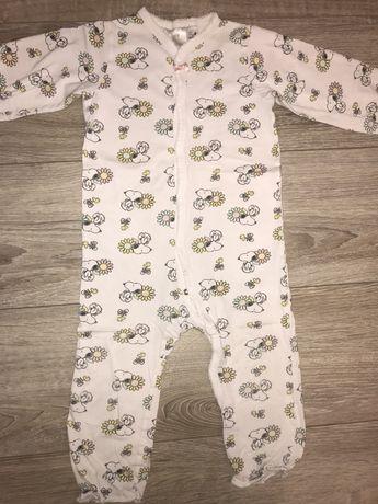 Pijama salopeta cu Snoopy H&M nr.92