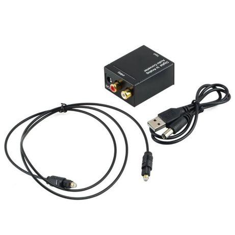 Decodor digital in analog (optic în rca) Convertor Audio TV out Spdif