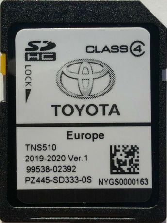 2021гд Ver.1 Toyota Навигационна SD card TNS510 Europe Сд Карта Тойота