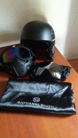 Шлем с очками для катания на лыжах