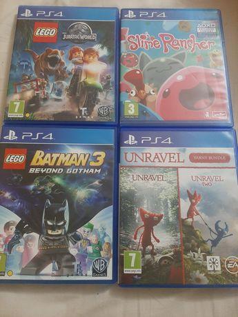 Jocuri PS4 Slime, Lego, Unravel