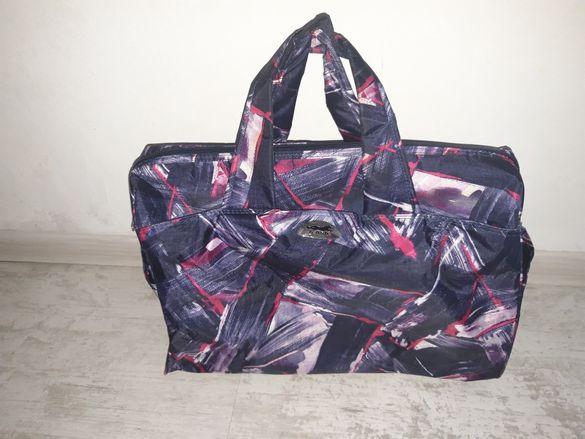 Чанта, сак, 5 джоба, дълга дръжка, хващане на куфар