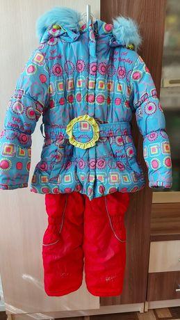 Продам недорого зимний комбинезон на девочку за 5000 тг. р-р на 3-4 г.