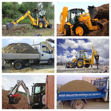 Inchiriez buldo-excavator,Lucrari Sapat-uri,Nivelari,picon spart beton