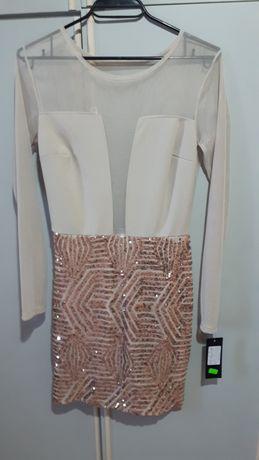 Дамска рокля с паети