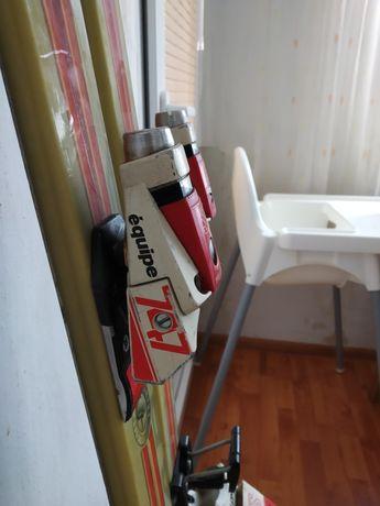 Ски Volkl със ски автомати Salomon и ски обувки