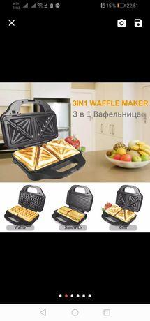 SONIFER 3-в-1 электрическая вафельная сэндвич-машина для завтрака 3в1