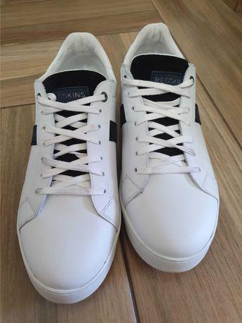 Sneakers Redskins - Piele naturala, culoare alb, marimea 43