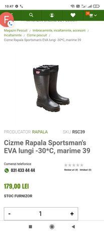 Cizme Rapala Sportsman's EVA lungi -30C, marime 43