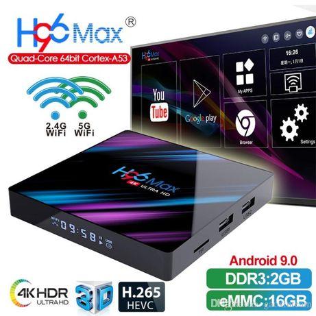 ТВ приставка андройд, Смарт ТВ. H96 Max, 2GB ОЗУ, 16 GB флеш-память