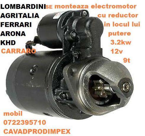 Electromotor pentru tractor CARRARO ,ARONA,Ferrary,Khd,Agritalia 3.2kw