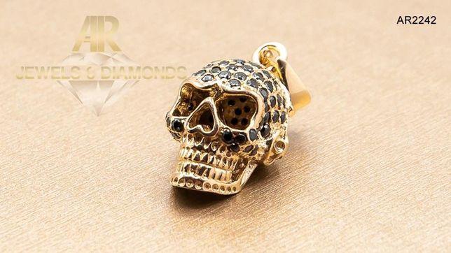 Pandantiv Skull Collection ARJEWELS din Aur 14 K model nou deosebit