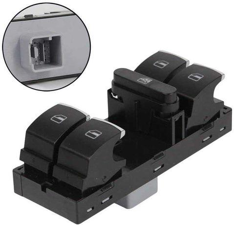 Панел копчета за VW Golf VI / Passat / Polo с 4ел. стъкла 10 пина ХРОМ