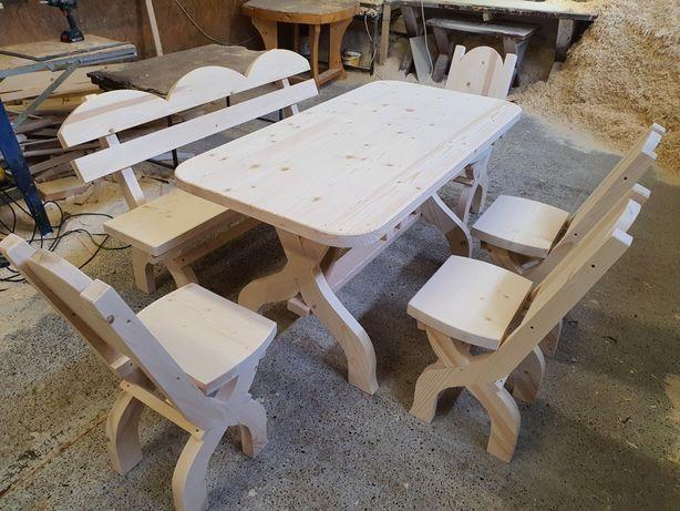 masa cu scaune si banci / set mobilier rustic 6 persoane