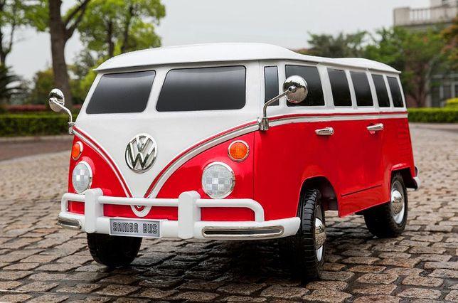 Masinuta electrica pentru 2 Copii VW Samba Bus NOUA cu Garantie #Rosu