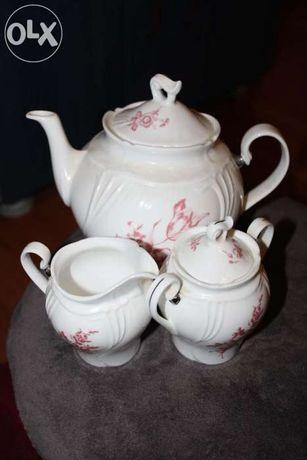Set de ceai/cafea din portelan 3 piese Bone China Royal Wings
