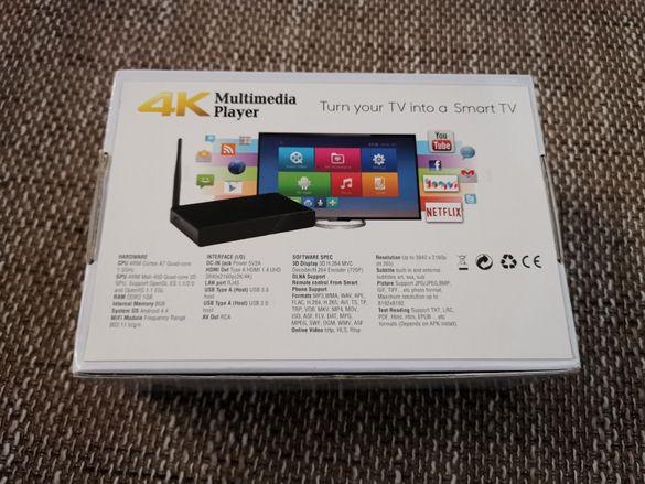 Мултимедиен плеър Hi3798M 4K Media player H96 Max Plus HD TV BOX
