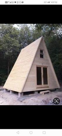 Vând cabane din lemn 8 pe 8