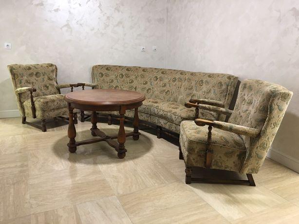 Set canapea+fotolii+masă rotundă Vintage