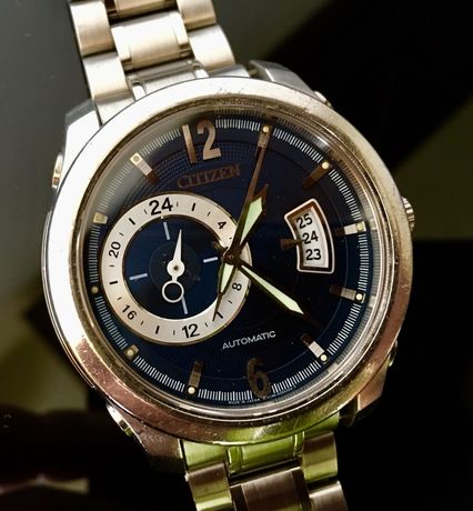 CITIZEN Dual Time - Automatic -Cal-4166/21 Rubine-Perfect Functional !