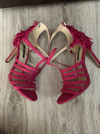 Sandale Zara piele intoarsa