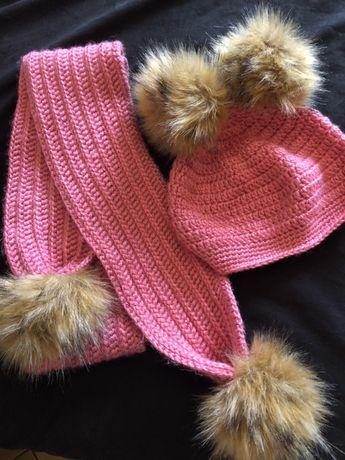Уникален комплект шал и шапка