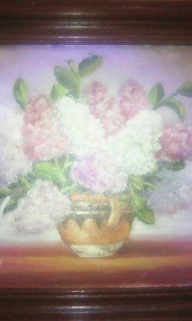 Tablou cu flori de liliac