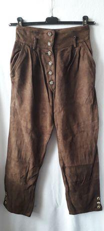 Pantaloni piele naturala tip bavarezi/tirolezi