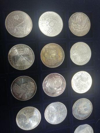 Лот немски сребърни монети 1987-97