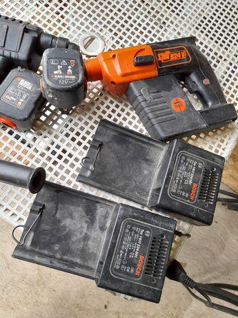 Bosch GBH 24 VRE si SPIT 3 24V; 2 baterii, 2 incarcatoare + altele