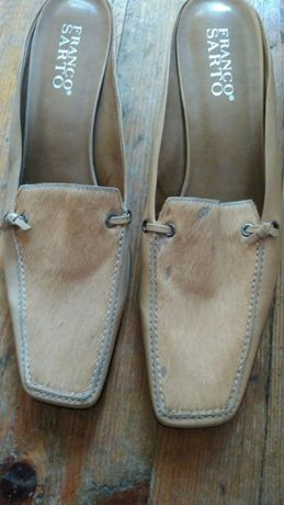 Дамски чехли с ток- Franco Sarto