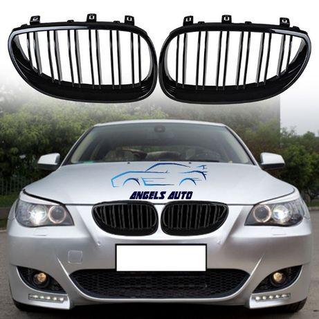 Grile M BMW Seria 5 E60 (2003-2009) Negru Lucios M Design Grile Duble