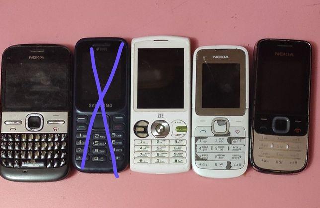 Nokia 3 шт и ZTE на запчасти
