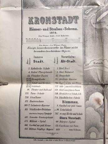 Harta veche a orașului Brasov