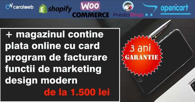 Creare site, magazin online, seo, promovare website