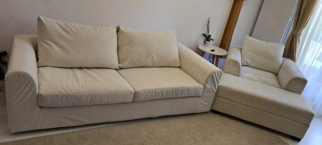 Vand set canapea 3 locuri + fotoliu + bancheta
