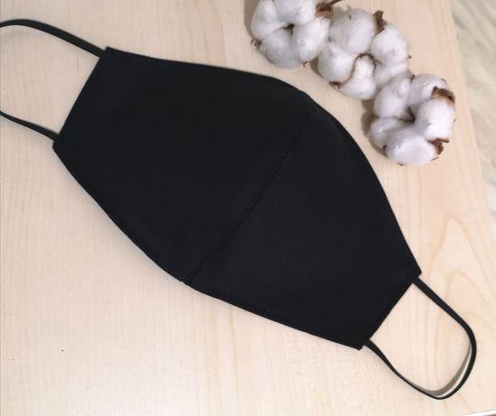 Măști protecție negre din bumbac măști fashion