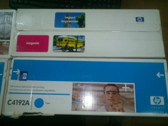 комплект от 4 оригинални касети за HP 4500/4550