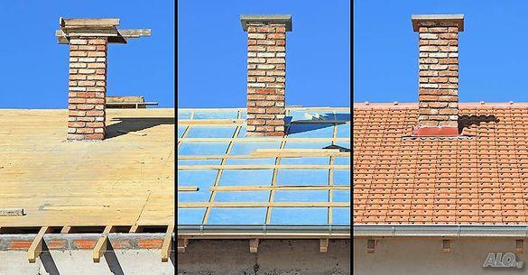 Ремонт на покриви, Безшевни улуци Тенекеджииски услуги, Хидроизолация