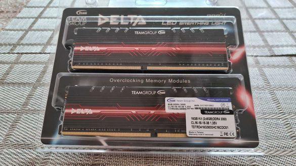 RAM памет - 16GB (2X8GB) DDR4 3000MHz Team Delta Red